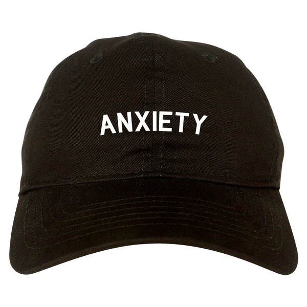 Anxiety Anxious Black Dad Hat