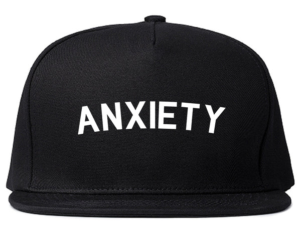 Anxiety Anxious Black Snapback Hat