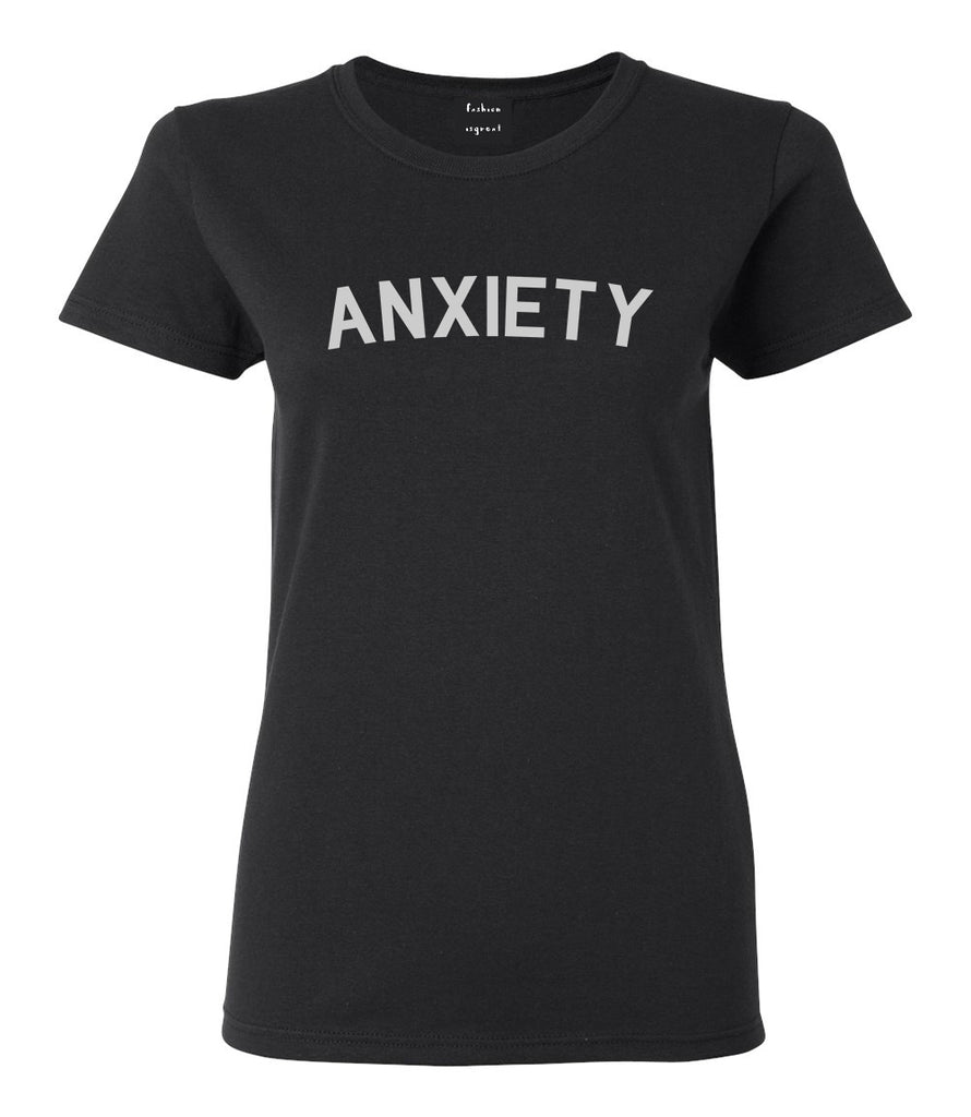 Anxiety Anxious Black T-Shirt