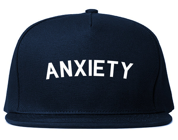 Anxiety Anxious Blue Snapback Hat