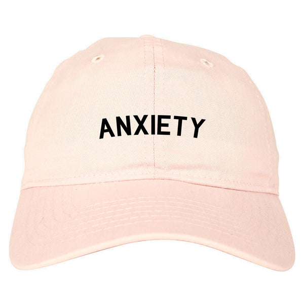 Anxiety Anxious Pink Dad Hat