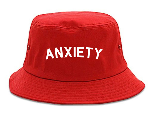 Anxiety Anxious Red Bucket Hat