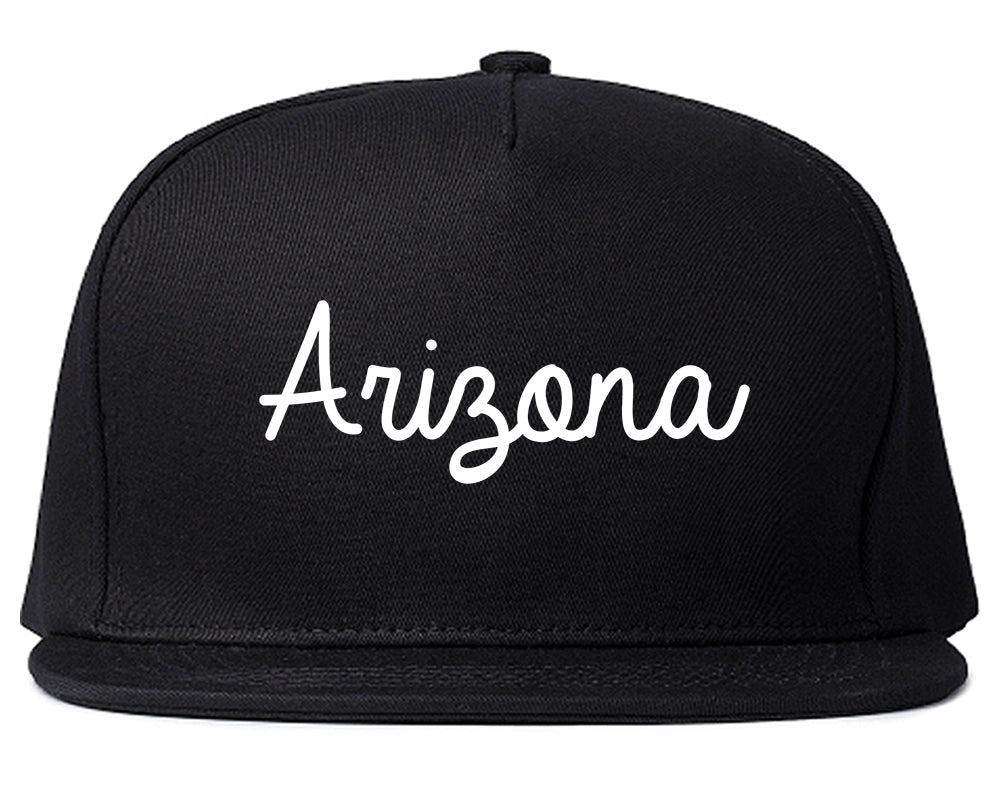 Arizona AZ Script Chest Black Snapback Hat