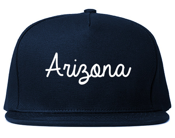 Arizona AZ Script Chest Blue Snapback Hat