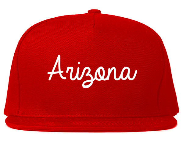Arizona AZ Script Chest Red Snapback Hat