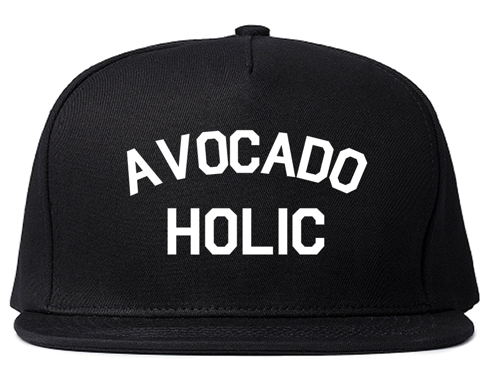 Avocado Holic Foodie Food Snapback Hat Black
