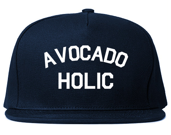 Avocado Holic Foodie Food Snapback Hat Blue