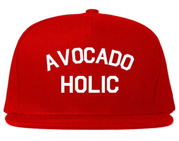 Avocado Holic Foodie Food Snapback Hat Red