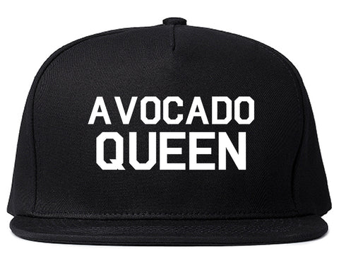 Avocado Queen Vegan Black Snapback Hat