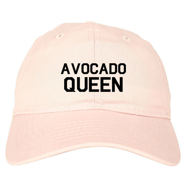 Avocado Queen Vegan Pink Dad Hat