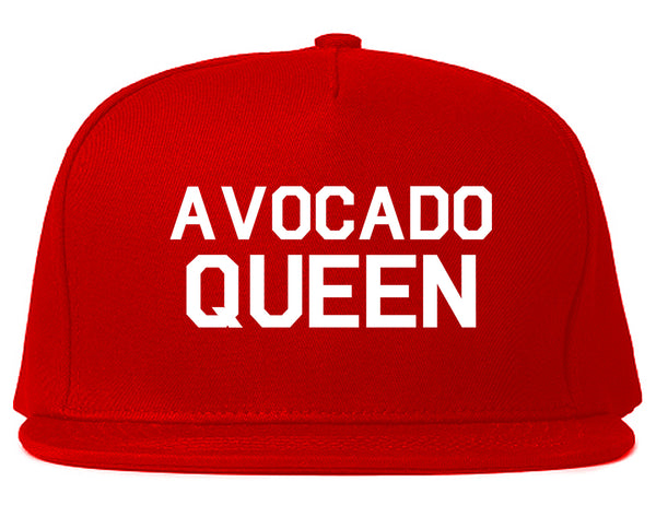 Avocado Queen Vegan Red Snapback Hat