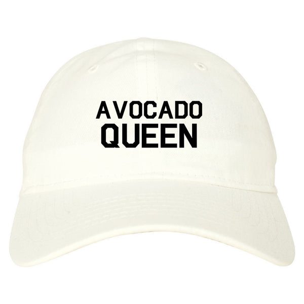 Avocado Queen Vegan White Dad Hat