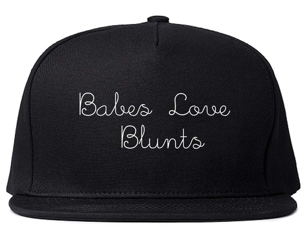 Babes Love Blunts Snapback Hat Black