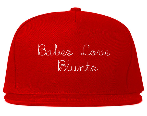 Babes Love Blunts Snapback Hat Red