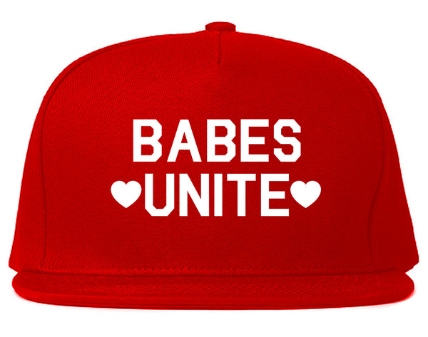 Babes Unite Hearts Red Snapback Hat