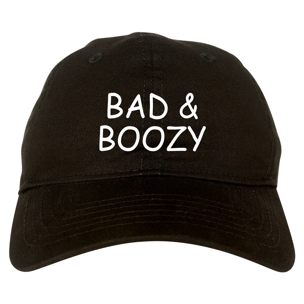 Bad And Boozy Wine Funny Black Dad Hat