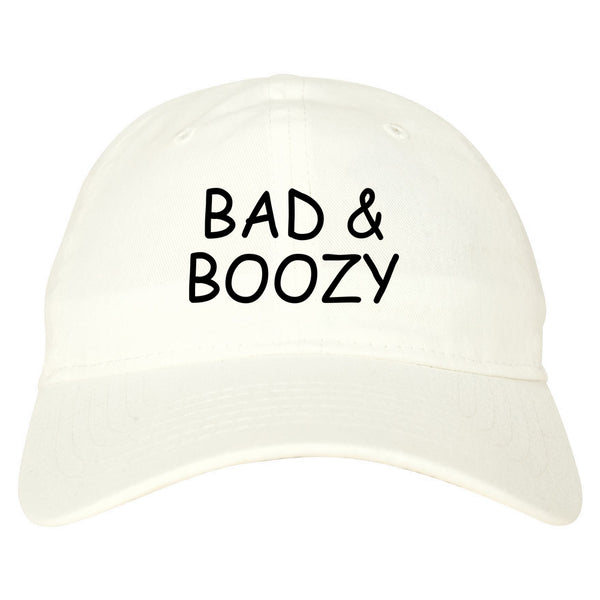 Bad And Boozy Wine Funny White Dad Hat