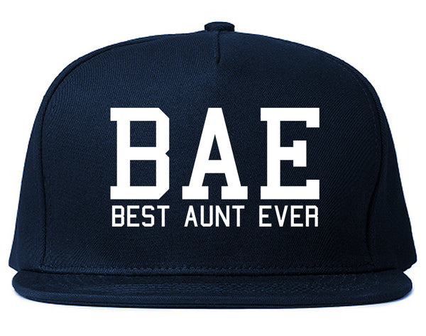Bae Best Aunt Ever Blue Snapback Hat