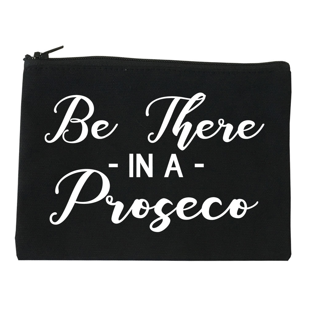 Be There In A Proseco Wine Black Makeup Bag