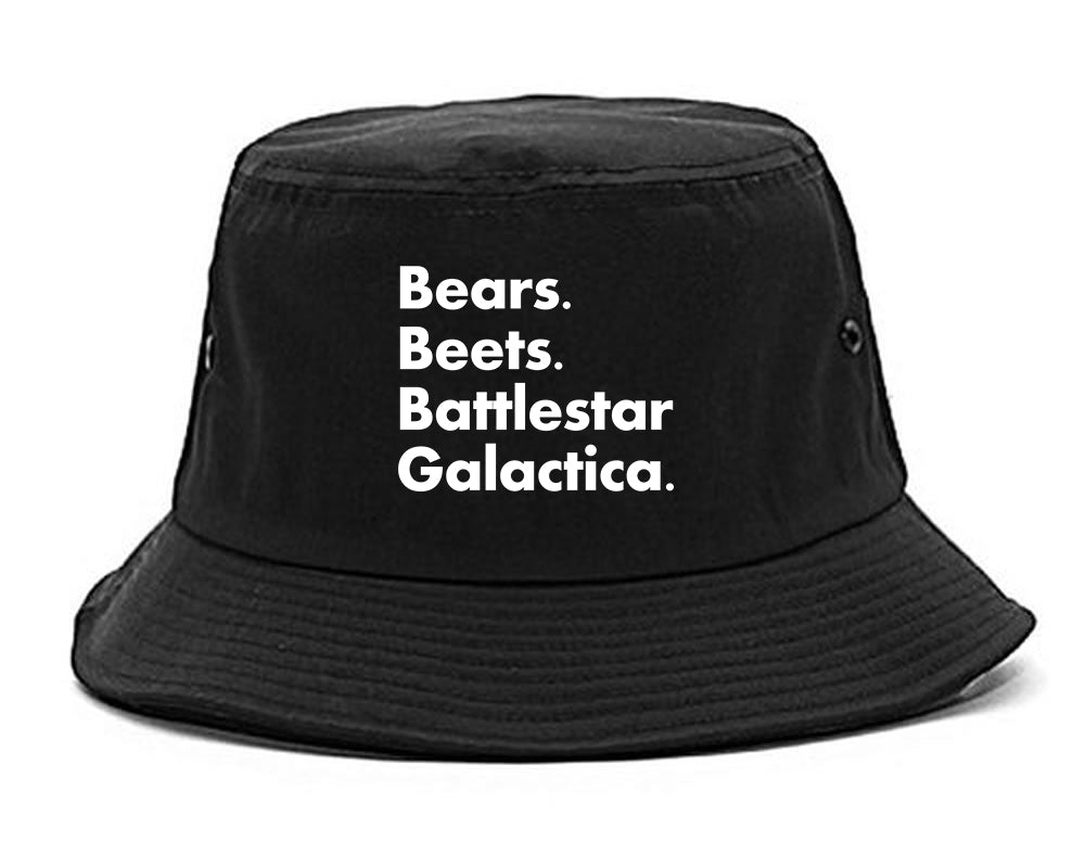 Bears Beets Battlestar Galactica Black Bucket Hat