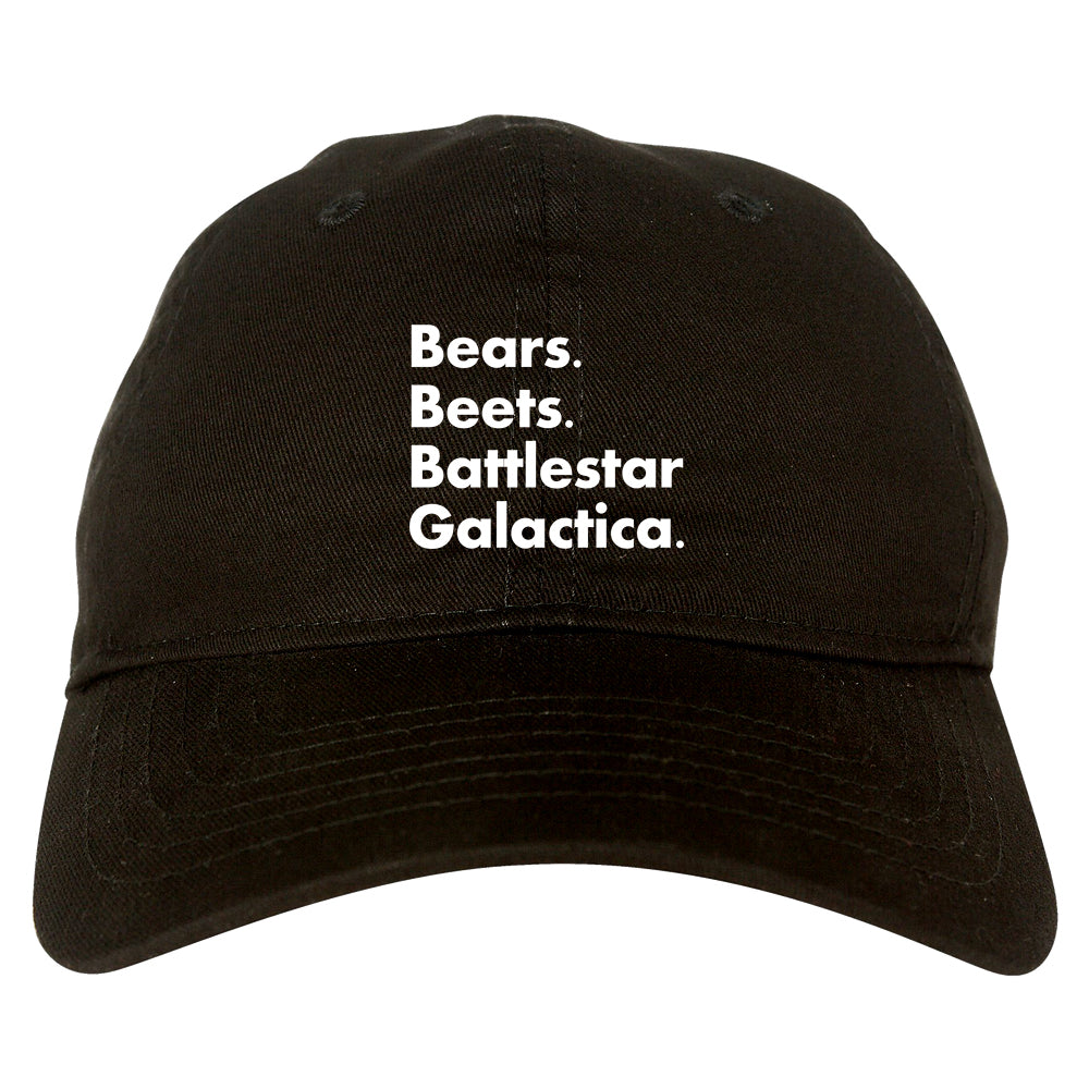 Bears Beets Battlestar Galactica Black Dad Hat