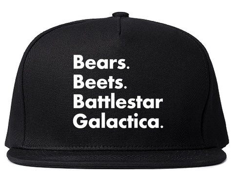 Bears Beets Battlestar Galactica Black Snapback Hat