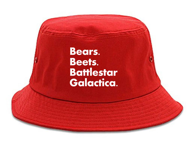 Bears Beets Battlestar Galactica Red Bucket Hat