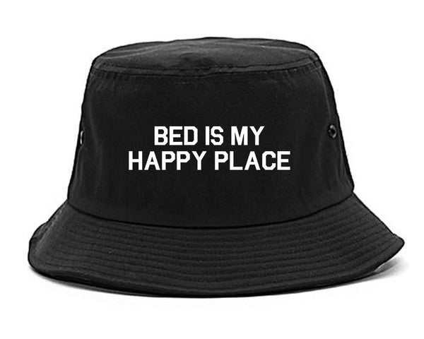 Bed Is My Happy Place Black Bucket Hat