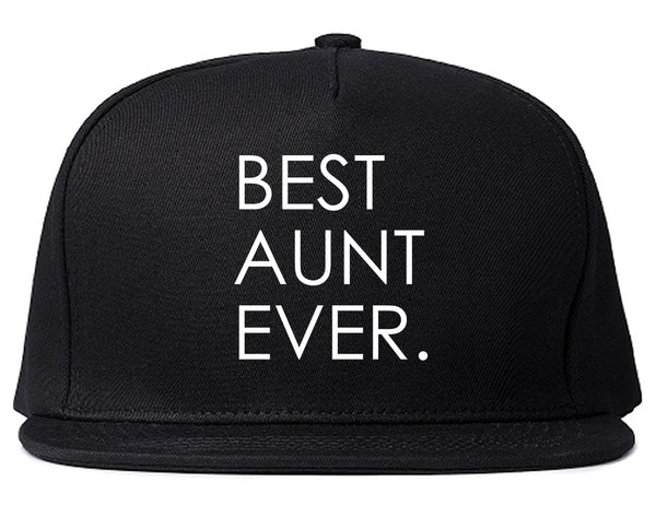 Best Aunt Ever Auntie Gift Black Snapback Hat