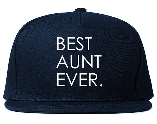 Best Aunt Ever Auntie Gift Blue Snapback Hat