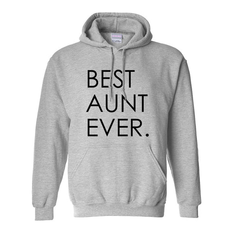 Best Aunt Ever Auntie Gift Grey Womens Pullover Hoodie