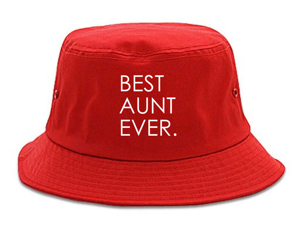 Best Aunt Ever Auntie Gift red Bucket Hat