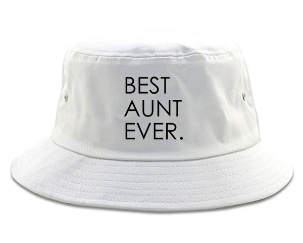 Best Aunt Ever Auntie Gift white Bucket Hat