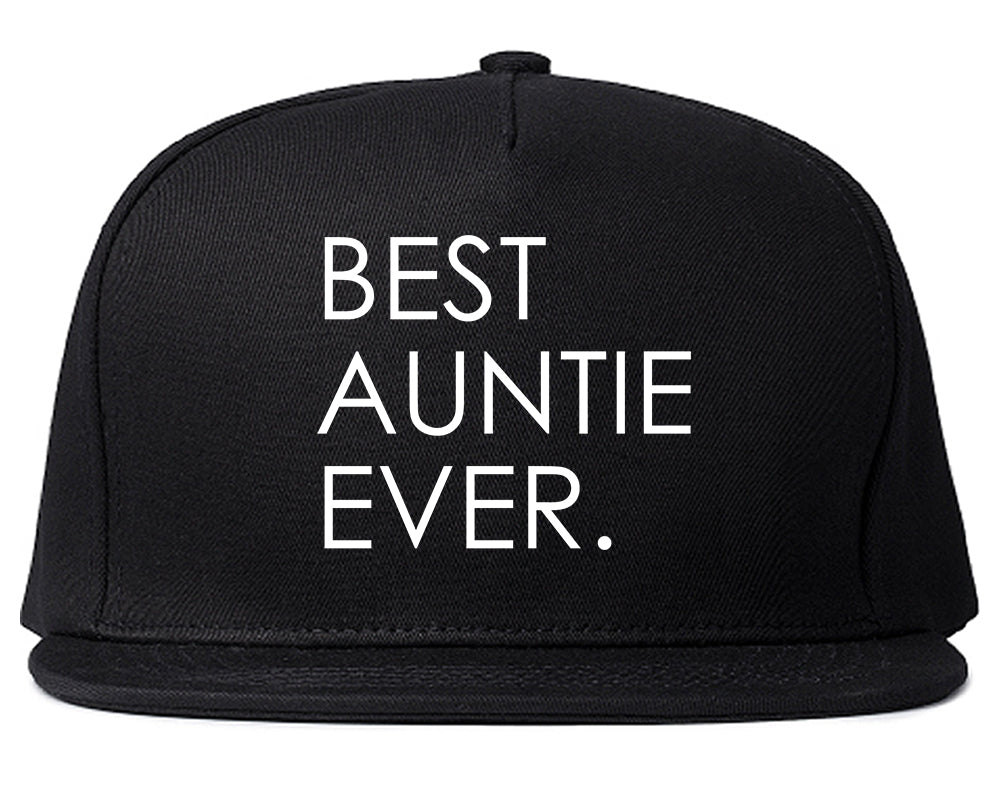 Best Auntie Ever Black Snapback Hat
