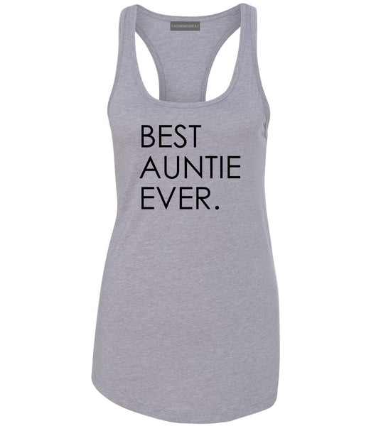 Best Auntie Ever Grey Womens Racerback Tank Top