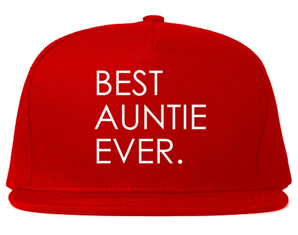 Best Auntie Ever Red Snapback Hat