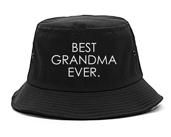 Best Grandma Ever Mom Gift black Bucket Hat