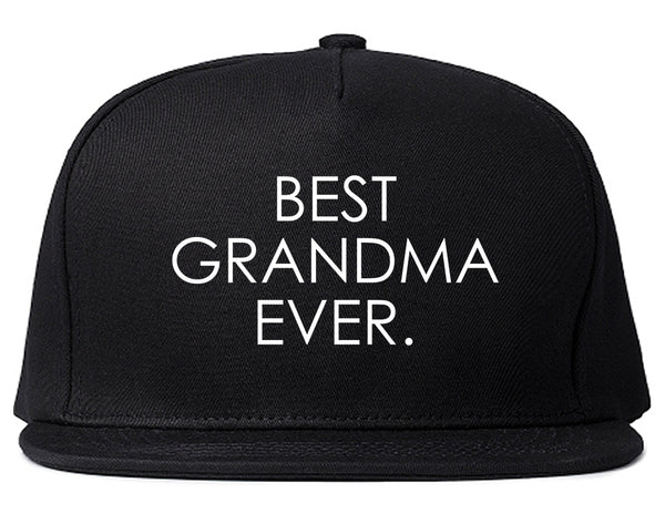 Best Grandma Ever Mom Gift Black Snapback Hat