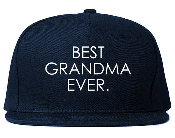 Best Grandma Ever Mom Gift Blue Snapback Hat