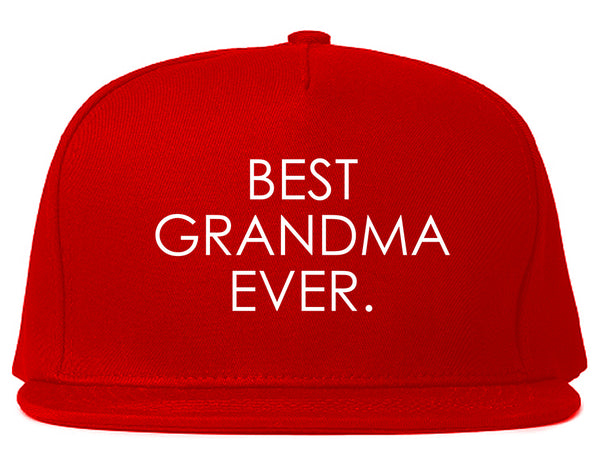 Best Grandma Ever Mom Gift Red Snapback Hat