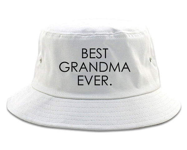 Best Grandma Ever Mom Gift white Bucket Hat