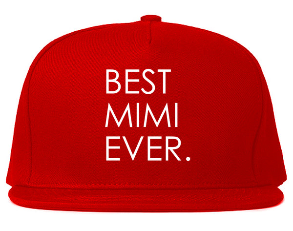 Best Mimi Ever Gift For Grandma Snapback Hat Red