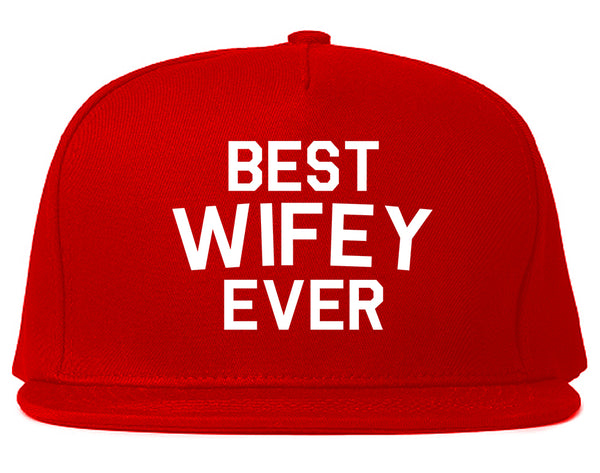 Best Wifey Ever Wife  Snapback Hat Red