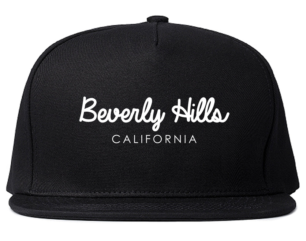 Beverly Hills California Snapback Hat Black