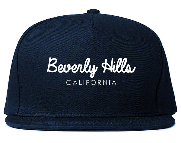 Beverly Hills California Snapback Hat Blue