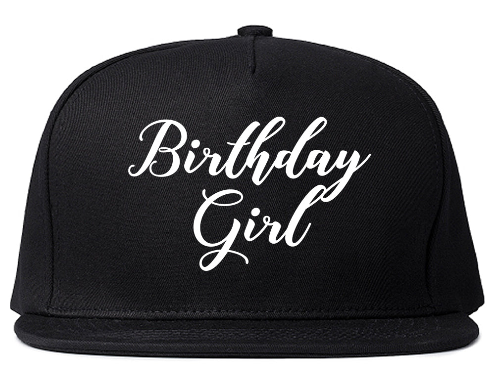 Birthday Girl Party Black Snapback Hat