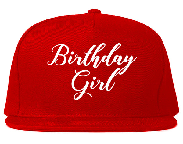 Birthday Girl Party Red Snapback Hat