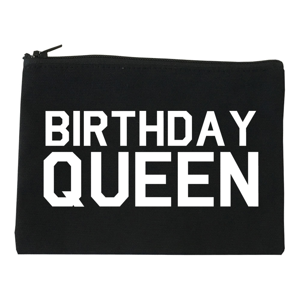 Birthday Queen Bday Black Makeup Bag