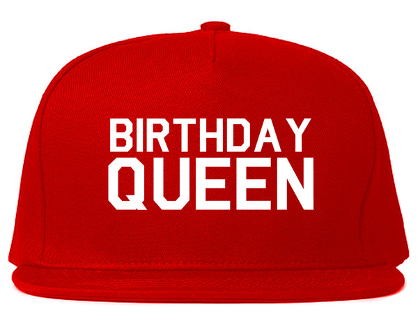 Birthday Queen Bday Red Snapback Hat
