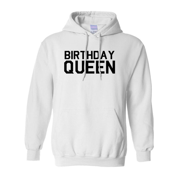 Birthday Queen Bday White Pullover Hoodie
